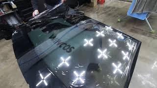 BMW 520D 차량의 앞유리교체시 전면유리썬팅 열성형…