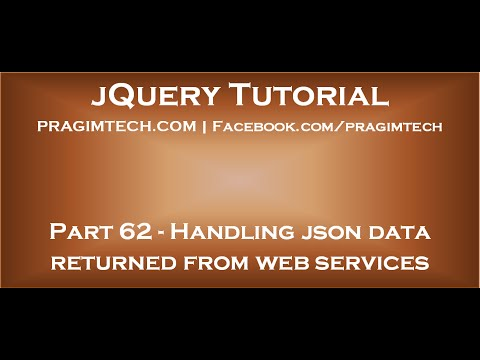 Handling json data returned from asp net web services - YouTube