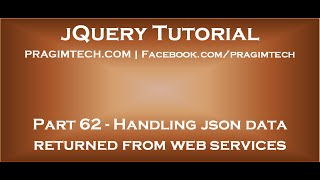 Handling json data returned from asp net web services