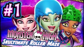 ☆ Monster High: Skultimate Roller Maze Walkthrough Part 1 (Wii, 3DS, DS) Full Gameplay ☆