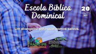 Um evangelho pelo qual somos salvos.   1 Coríntios 15:2   Rev. Elias Siqueira