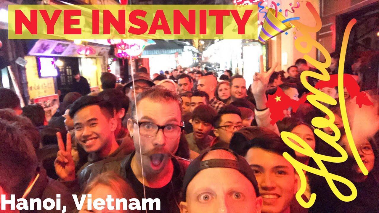 VISIT HANOI! NIGHTLIFE TOUR??? CRAZY #1 Beer Street TA HIEN on NYE 2018 - Vietnam Travel Vlog