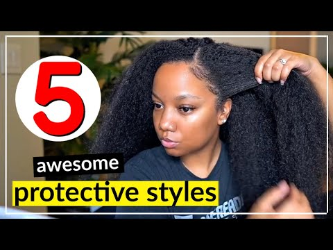protective-styles-😍great-for-natural-hair-&-faster-hair-growth-🔥|-crochet,-mini-twists,-&-more!