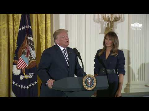 President Trump Participates in the Celebration of Military Mothers and Spouses Event
