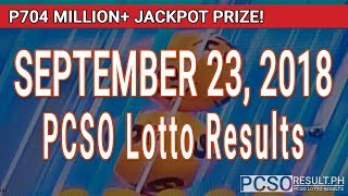 PCSO Lotto Results Today September 23, 2018 (6/58, 6/49, Swertres, STL & EZ2)