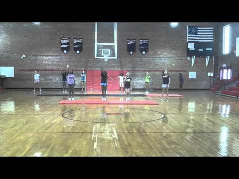 Burgaw Middle School First Cheerleading Practice 08/27/12