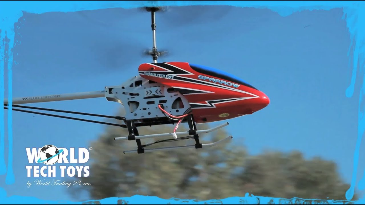 small resolution of world tech toys introduces the metal sparrow gyro helicopter