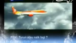 لحظة سقوط الطائرة الماليزية