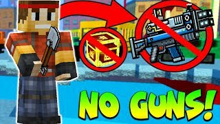 Winning Pixel Gun 3D Battle Royale With NO WEAPONS!
