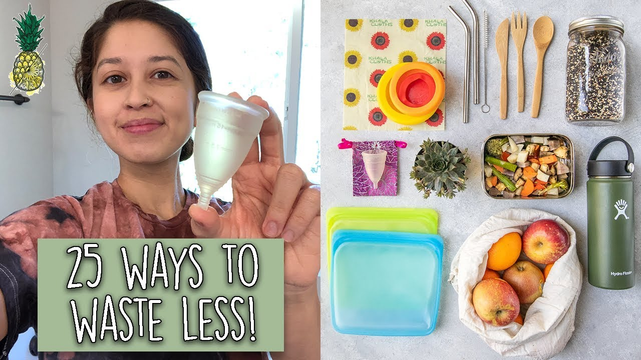 25 Easy Ways To Reduce Waste & Save Money | Tips For Beginners!