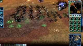 Command & Conquer 3: Kanes Wrath Skirmish GDI vs SCRIN Brutal AI Steamroller on Bridge to Nowhere