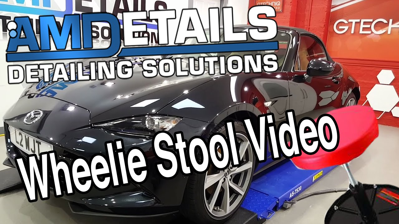 Mazda Mx Mk Gtechniq Detailing Wheelie Stool Video - Mazda detailing