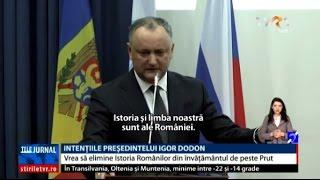 """Igor Dodon vrea să elimine """"Istoria Românilor"""" din învățământul de peste Prut"""
