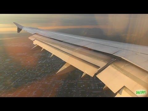 Lufthansa A321 Gorgeous Sunrise Landing at Frankfurt Am Main!