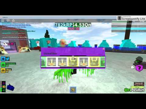 Roblox miners heaven 2 codes and box opening