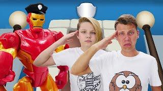 Железный Человек и Полицейская Академия! Задание для супергероев! – Новые видео игры для мальчиков