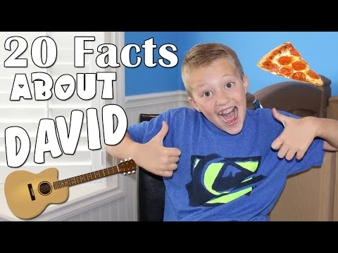 20 Questions With David - Facts You Didn't Know About David From Family Fun Pack