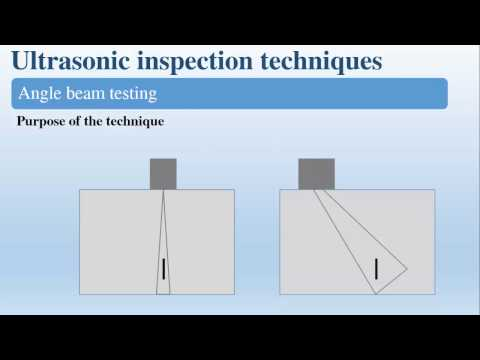 Angle Beam: Ultrasonic Testing Level 1 Angle Beam Testing