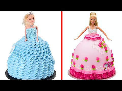 Amazing Dress Cake Decorating For Barbie   Cute Doll Cake Decorating Ideas For Party   So Yummy #10