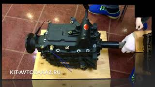 Включение передач на китайской КПП на примере модели 17LG38 YUEJIN 1080
