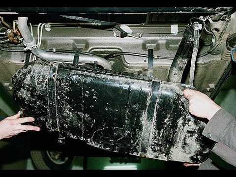 Как снять топливный бак? ВАЗ 2112