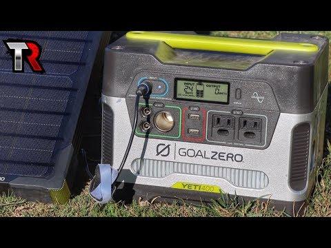 OFF GRID POWER - Goal Zero Yeti 400 & Boulder 50 Solar Panel Review