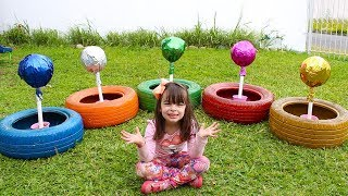 APRENDENDO CORES - Colors for Kids with Color Tire Educational video for Children