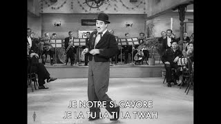 Sing along with Chaplin - Nonsense Song (Titine) from Modern Times - Lyrics