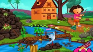 Dora Outdoor Cleaning (Даша убирает во дворе) - прохождение игры