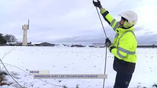 Yvelines | Neige : immersion avec les techniciens d'Enedis