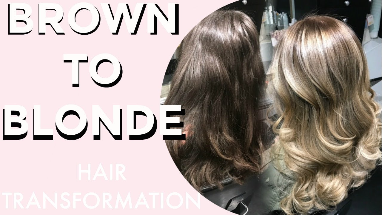 Hair Transformation Brunette To Blonde Balayage Ombre Youtube