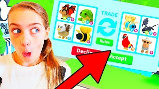 ONLY TRADING LEGENDARY PETS in ADOPT ME Gaming w/ The Norris Nuts