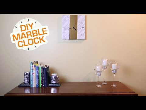 DIY Marble Clock | Marble Contact Paper Craft Ideas | Makeover with Contact Paper | DIY Clock