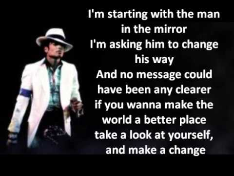 Michael Jackson Man In The Mirror Lyrics Hq Youtube