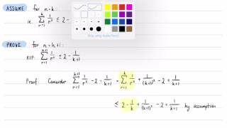 Inequality Proof: Summing Reciprocals of Squares (Experimental Silent Screencast)