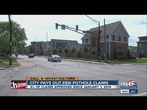 Call 6: Only 5% of Indianapolis pothole claims approved since 2014