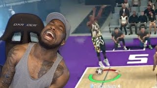 RAGE QUIT! THIS GAME BROKEN! CANT MAKE OPEN SHOTS! Diamond Jimmy vs David Robinson | NBA 2K17 MYTEAM
