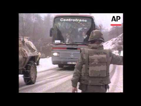 Bosnia - Convoy From Sarajevo To Gorazde
