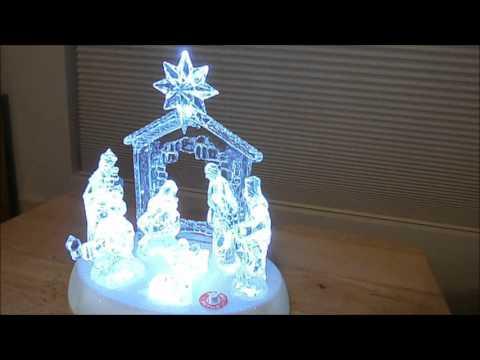 LED Musical Nativity Scene Christmas Decoration
