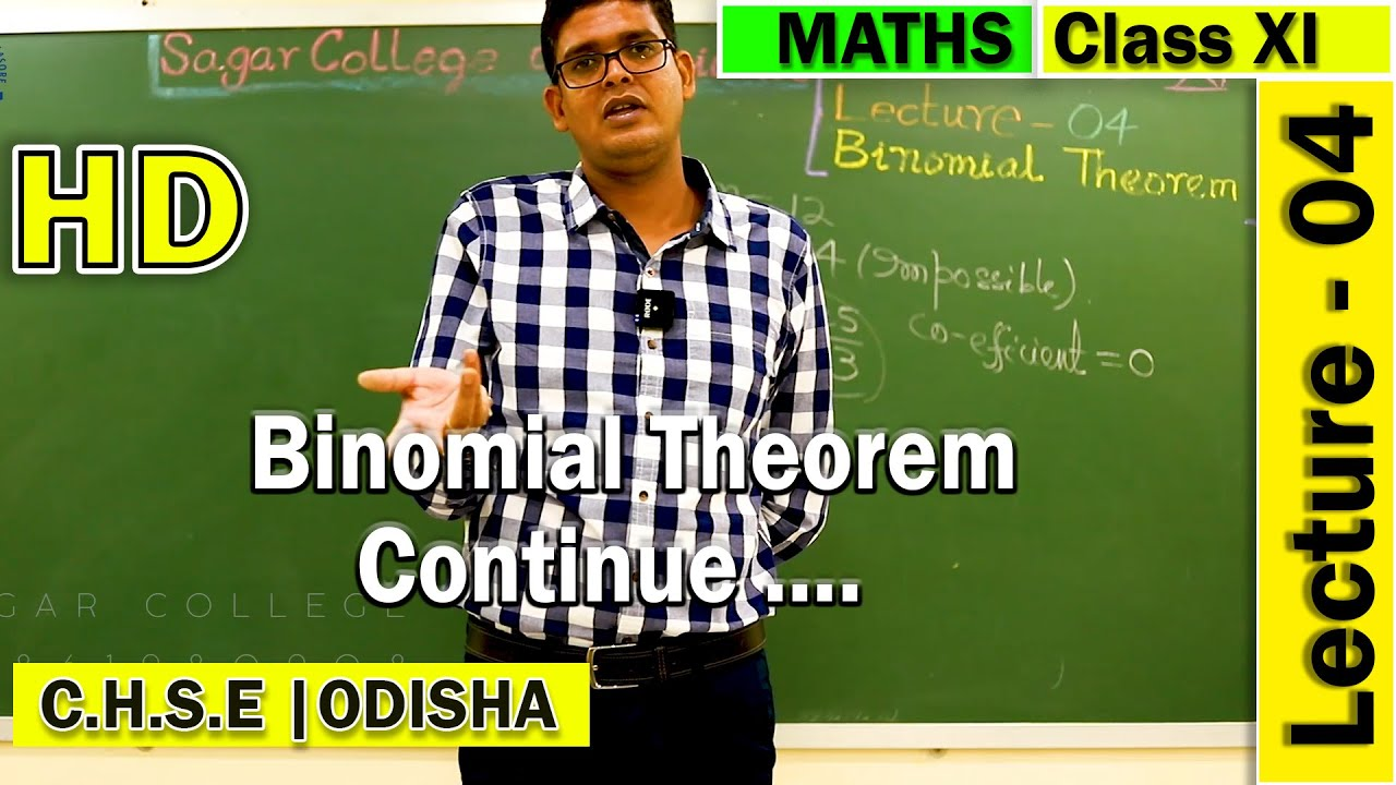Mathematics | Binomial Theorem | Lecture -04 | Elements of Mathematics | General Terms & application
