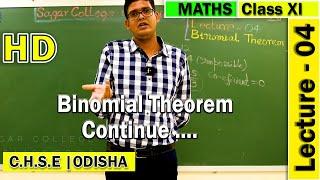 Mathematics | Binomial Theorem | Lecture -04 | Elements of Mathematics | General Terms & application