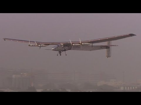 Solar-powered global flight takes off