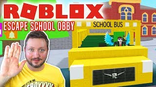 ESCAPING FROM school! -Roblox Escape School Obby Danish Ep 1