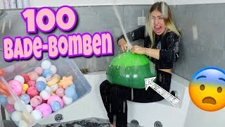 100 Bade-Bomben in XXL Ballon 😳😱   BibisBeautyPalace