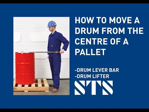 Taking Drum Off Pallets With A Drum Lifter & Lever Bar