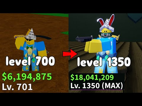 I Reached Max Level 1350! - Blox Fruit Roblox