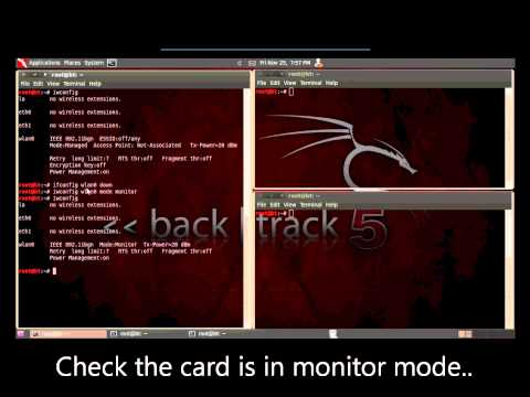 Wireless Ethical Hacking - Setting Wireless Card to Monitor Mode