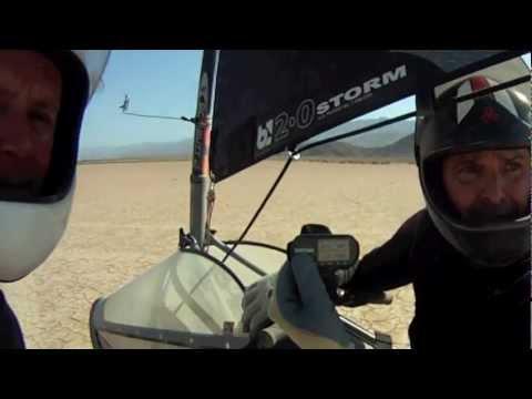 Blokart Speed Record Broken by Mark Walters at Red Lake, AZ 5-25-2012