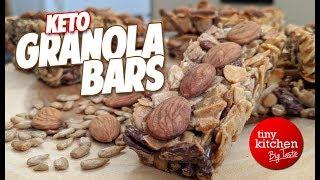 Tiny Kitchen Zip Bars (Keto Granola Bars) // Tiny Kitchen Big Taste