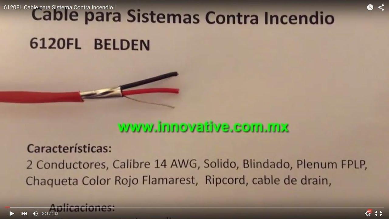 6120fl cable para sistema contra incendio youtube - Detector de cables ...